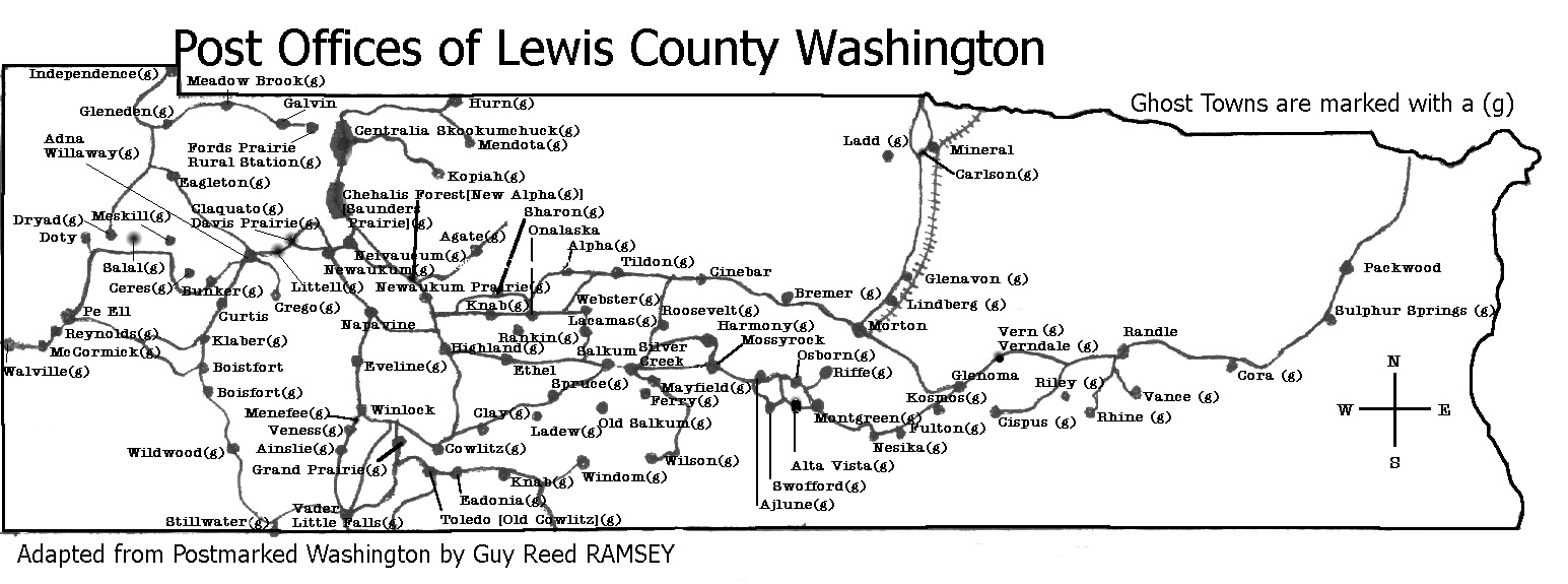 Lewis County Washington Map.Lcgs History Pictures